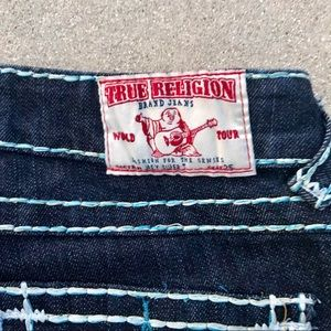 True Religion Jeans - TRUE RELIGION Joey super T DENIM JEANS blue stitch